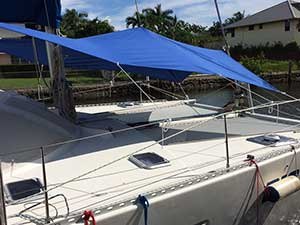Forward Awning for Multihull Lagoon 42
