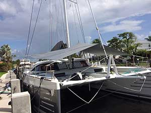 Forward Awning for Multihull Nautitech 54